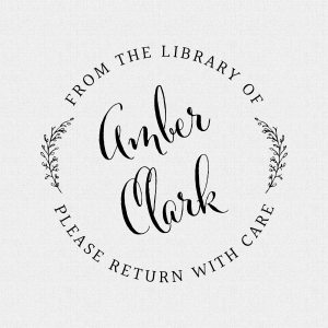 Simple & Elegant Personalized Library Book Stamp Style T288