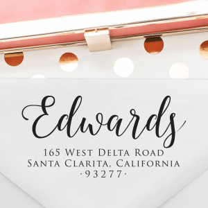 T299 - Calligraphy Return Address Stamp