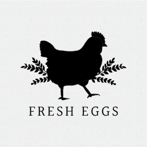 Fresh Eggs Rubber Stamp Style #T389