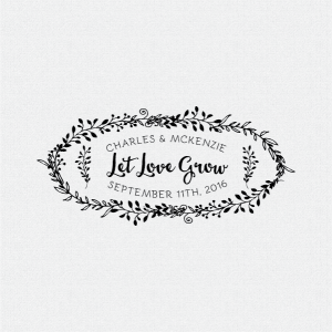 Let Love Grow Wedding Favor Stamp T390