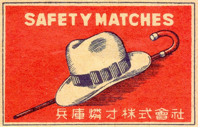 matchbox_art_labels_safety_matches_hat_cane