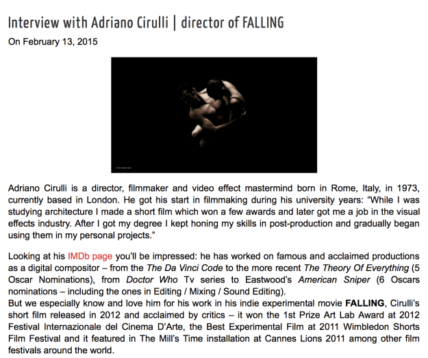 Interview with Adriano Cirulli