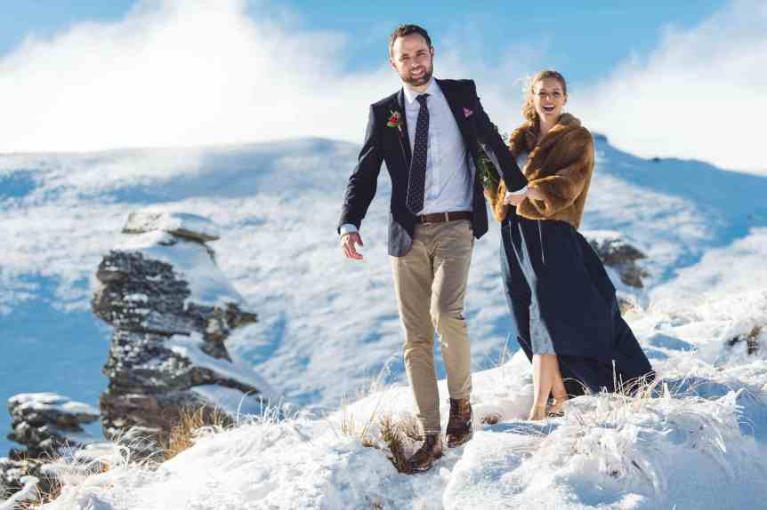 queenstown wedding snow Louise + Tom | Spectacular Queenstown Winter Wedding fallon photography