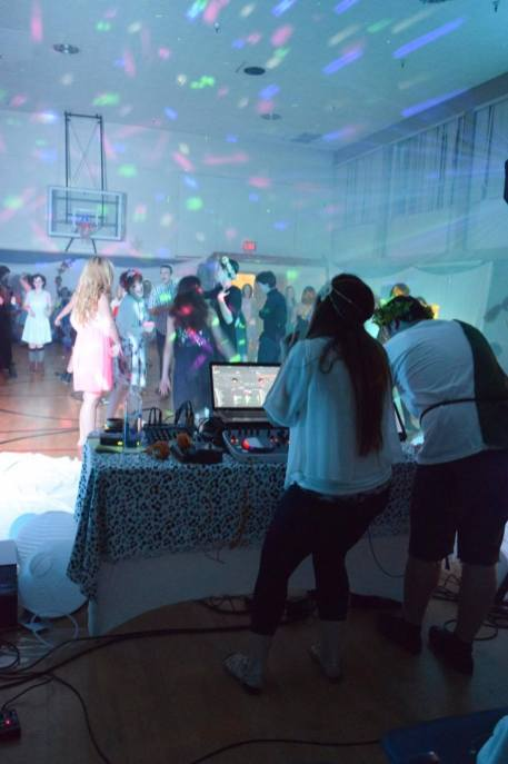 Fallon Love Productions DJing for a party.