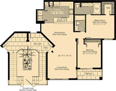 2 Bed / 2 Bath / 1,110 sq ft / Rent: Call for Details
