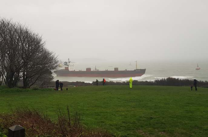 Russian ship stranded in Falmouth
