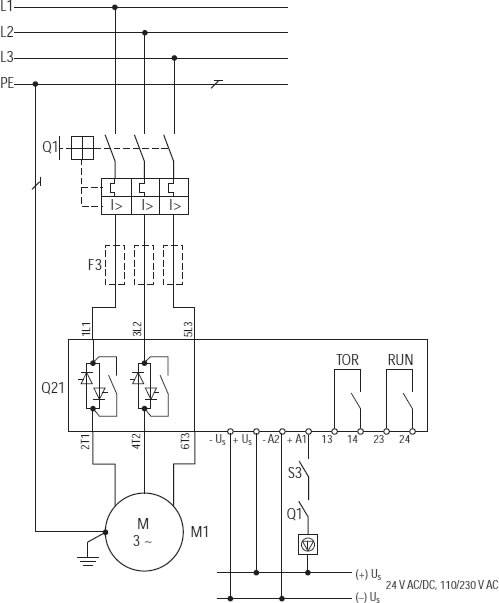 Softstart SOFTSTART DS7-340SX055N0-N 55A 400V