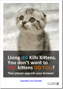 ie6 kills kittens