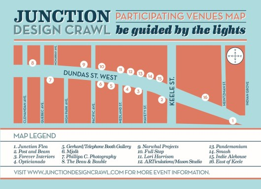 Junction Design Crawl Map