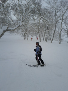 Skiing in Niseko