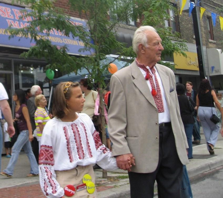 Ukrainian GrandDad and GrandDaughter