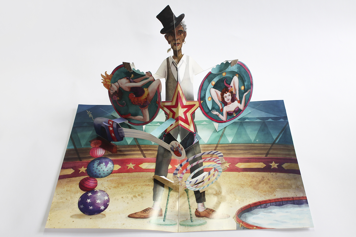 Circus Zingaro - A pop up book (finished) - faltmanufaktur-Tina Kraus