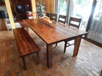 Dawn's Reclaimed Wood Farmhouse Dining Table | Fama Creations