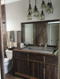 Robbie's Rustic Reclaimed Wood Bathroom Vanity | Fama ...