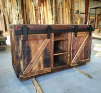 Connie's Reclaimed Wood Bathroom Vanity | Fama Creations