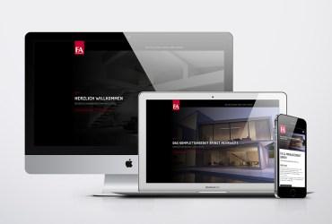 Unsere responsive Webseite