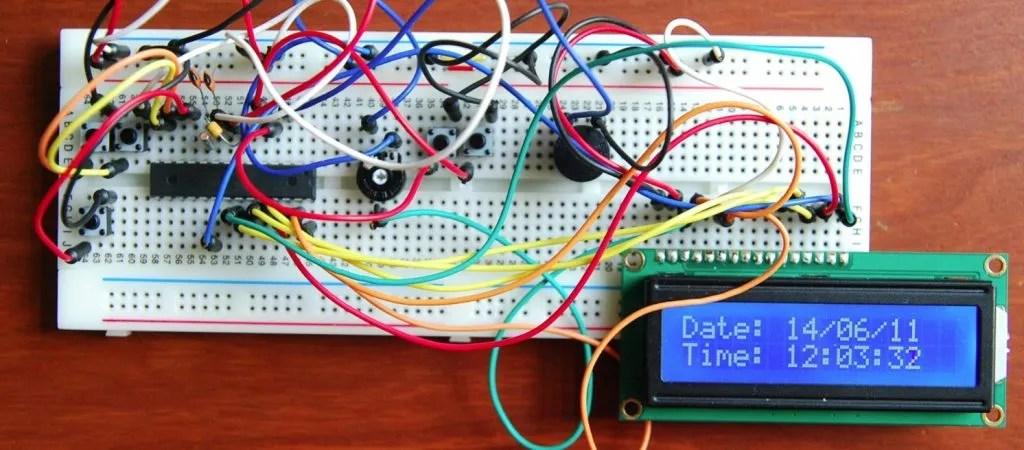 Atmel ATMEGA8 with BASCOM alarm clock project | Fam Bruinsma