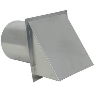 Hooded Wall Vent with Screen and Damper - Galvanized-0