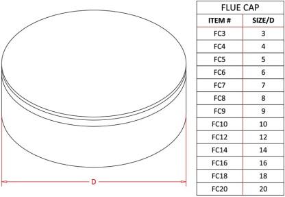 Flue Cap - Aluminum-1435