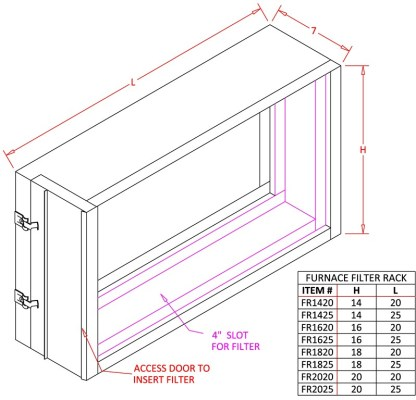 Furnace Filter Rack-1441