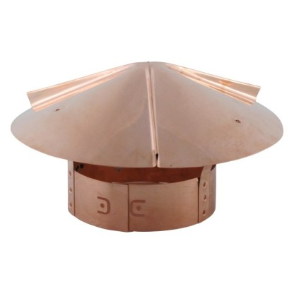 Cone Top Chimney Cap with Screen - Copper-0