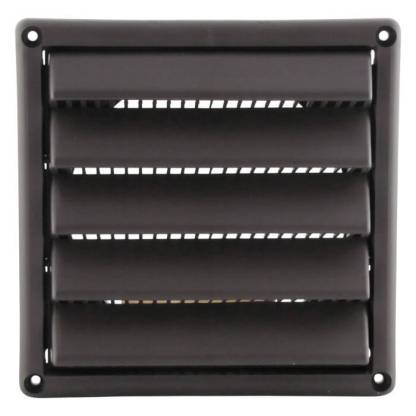 Plastic Wall Vent with Fixed Louvers-0