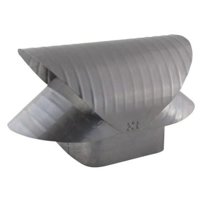 Square Flue Vacuum Cap - Stainless Steel-0
