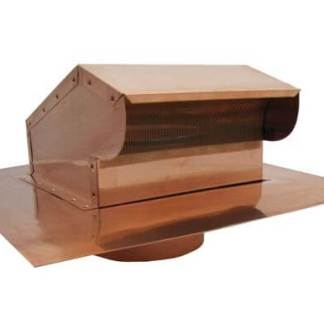 Bath Fan / Kitchen Exhaust - Roof Vent with Extension - Copper-0