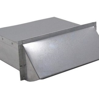 Rectangular Wall Vent 3-1/4 in. X 10 in. - Galvanized-0