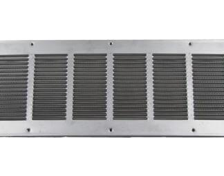 Louvered Foundation Vent with Screen and Damper - Aluminum-0