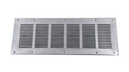 Louvered Foundation Vent - Galvanized-0