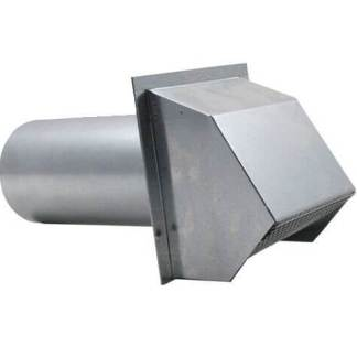 Hooded Wall Vent with Spring Loaded Damper, Gasket and Screen - Aluminum-0
