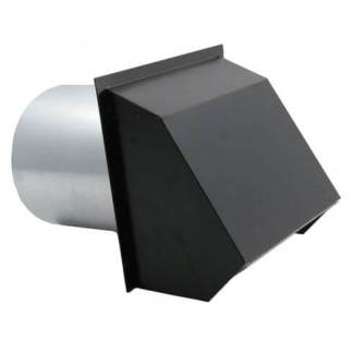 Hooded Wall Vent with Spring Loaded Damper, Gasket and Screen - Painted-0