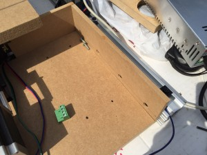 The MDF box for the router electronics