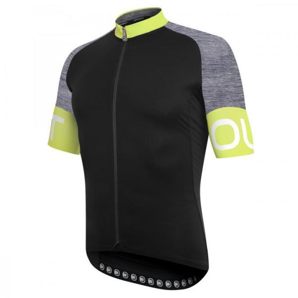 PURE maillot m/corta Negro-Gris-Lima