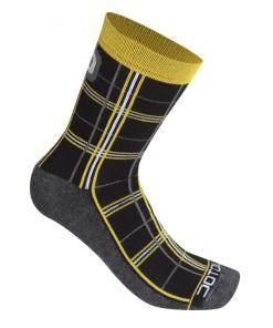 checked calcetines negro-amarillo fluor