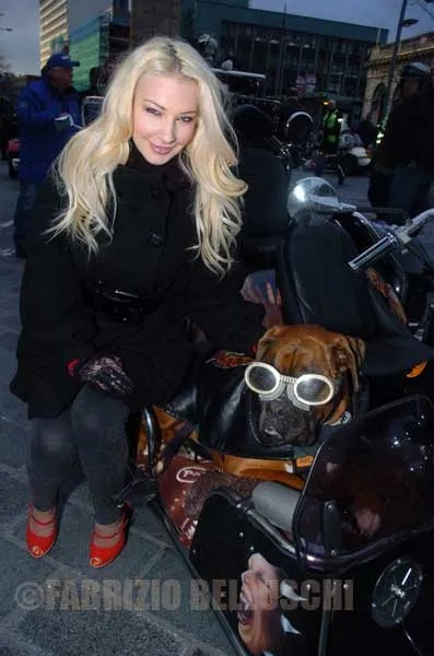 Model Laura Lacole Christmas Toy Run With 300 Bikers