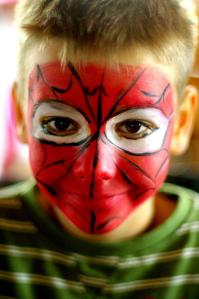 spider man facepainting