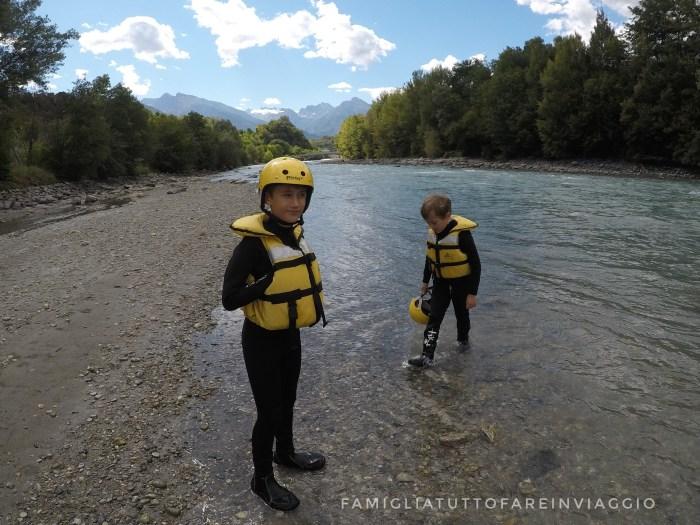 Rafting con bambini