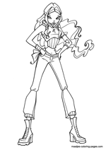 Winx coloring pages