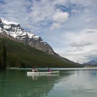 Mit dem Kanu unterwegs auf dem Moraine Lake - Ja, auch Marlies und Klaus waren mit dabei...
