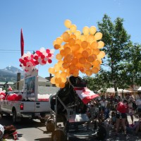 Die Parade in Jasper zum Canadas Day
