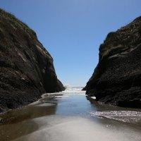Eine irre tolle Bucht am Wharariki Beach