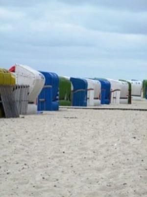 Strandkörbe - aufgereiht