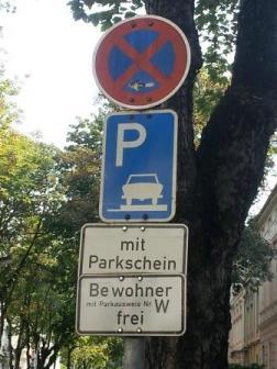 Parken. Nur für Anwohner.