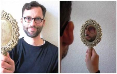 Spiegelbild. Und ich.