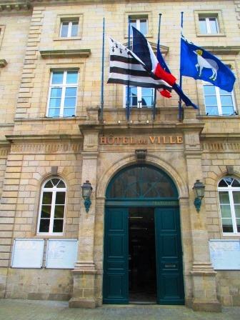 Rathaus von Quimper. Unspektakulär.
