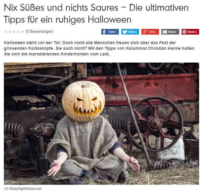 scoyo-Kolumne: Nix Süßes und nichts Saures – Die ultimativen Tipps für ein ruhiges Halloween