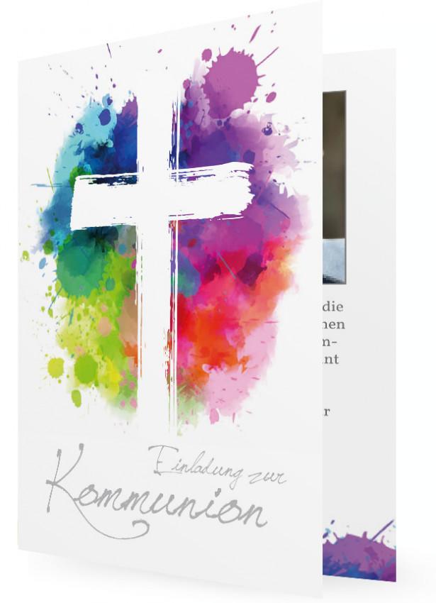 Einladung Erstkommunion  Familieneinladungende
