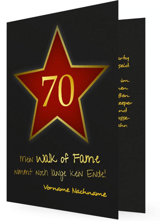 Geburtstagseinladung zum 70  Familieneinladungende